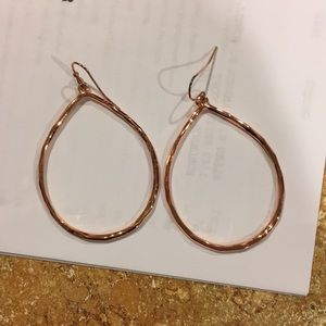 NWOT Premier Design Julia rose gold earrings